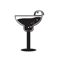 isolated cocktail silhouette vector image