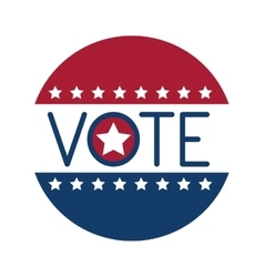 Isolated star of vote design vector