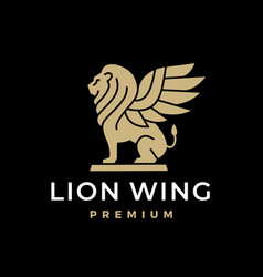 Lion wing winged shedu iamassu akkadian shirdal vector