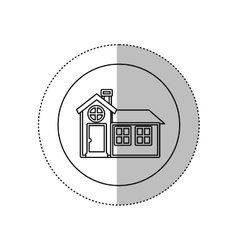 monochrome contour with middle shadow sticker in vector image