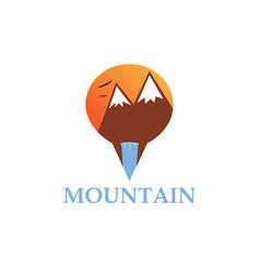 Mountain point logo vector