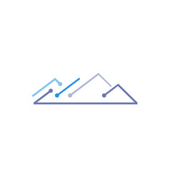 mountain tech logo vector image
