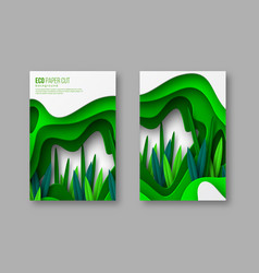 nature and environment conceptual posters vector image