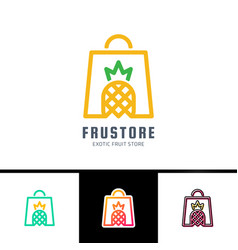 phrase fresh fruits card with woman bag decorated vector image