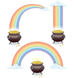 pot and rainbow vector image