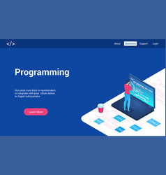 programming lp template vector image