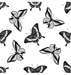Seamless pattern with black and white emerald vector