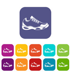sneakers for tennis icons set vector image