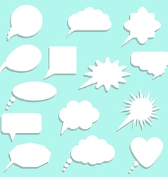 speech bubbles with shadow set vector image