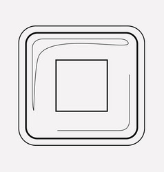 stop button icon line element vector image