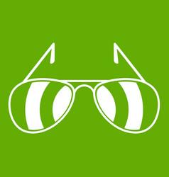 sunglasses icon green vector image