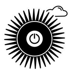 Switch sun off icon simple style vector