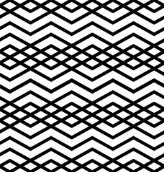 Symmetric monochrome textile endless pattern with vector image