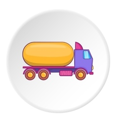 Tank truck icon flat style vector image