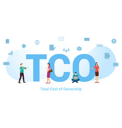 Tco total cost ownership concept with big word vector