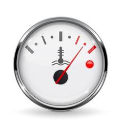 Temperature car gauge high temperature device vector