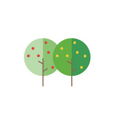 trees in flat style vector image vector image