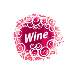 wine logo imprint vector image