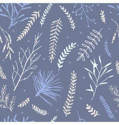 Winter branch pattern vector image