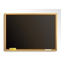 Empty blackboard with chalk and sponge vector image