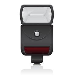 flash photo camera 01 vector image vector image