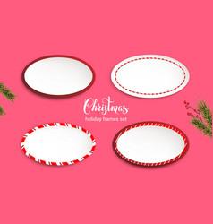 holiday frames set vector image