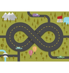 Road in the shape of infinity vector image vector image