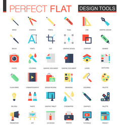 set of flat app design tools icons vector image