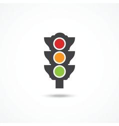 Traffic light icon vector image vector image