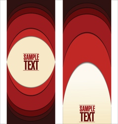 Abstract red labels vector image vector image