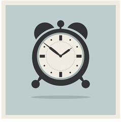 Alarm Clock on Retro Blue Background vector image vector image