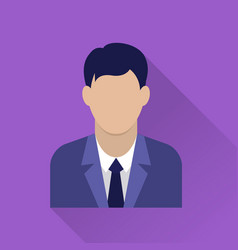 businessman flat icon vector image vector image