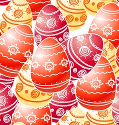 Easter eggs seamless texture vector image