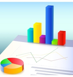Financial charts and graphs vector image