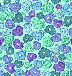 Seamless pattern of sewing buttons vector