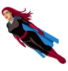 super heroine flying vector image vector image