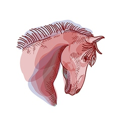 Chinese new year of the Horse sketch style EPS10 vector image vector image