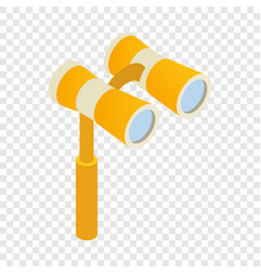 Elegant theater binocular isometric icon vector