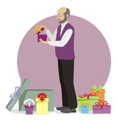 Present for old man vector image