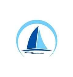 sailing boat yacht abstract logo vector image vector image
