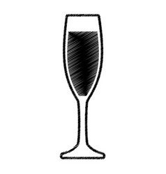 sketch glass cup drink vector image