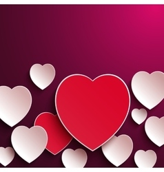 Valentines Day Abstract Paper Hearts vector image