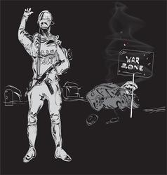 Zone of War vector image