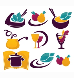 decorative food and drinks vector image vector image