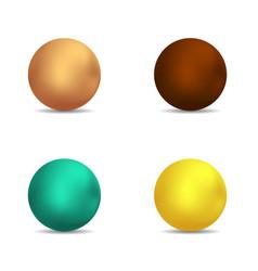 lollipop caramel choclate bubbles set vector image