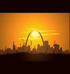 St Louis Sunset vector image vector image