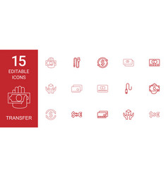 15 transfer icons vector
