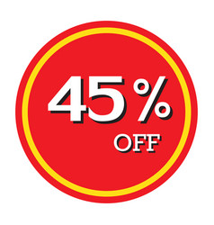 45 off discount price tag isolated vector