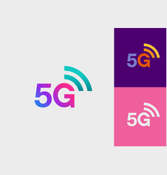 5g-fifth generation wireless network technology vector image
