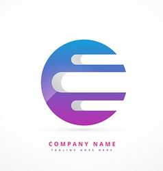abstract colorful logo art template design vector image